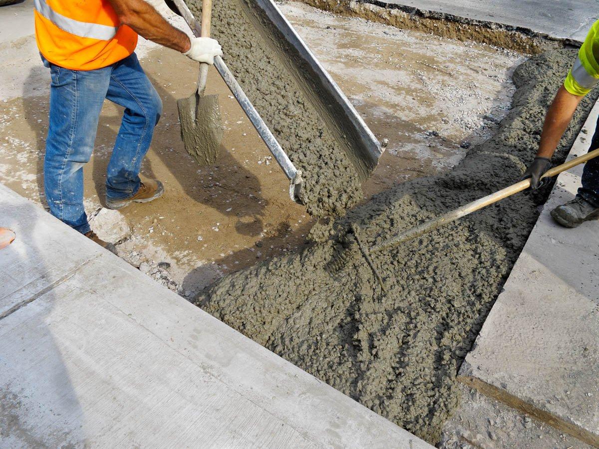 заливка бетона в12,5