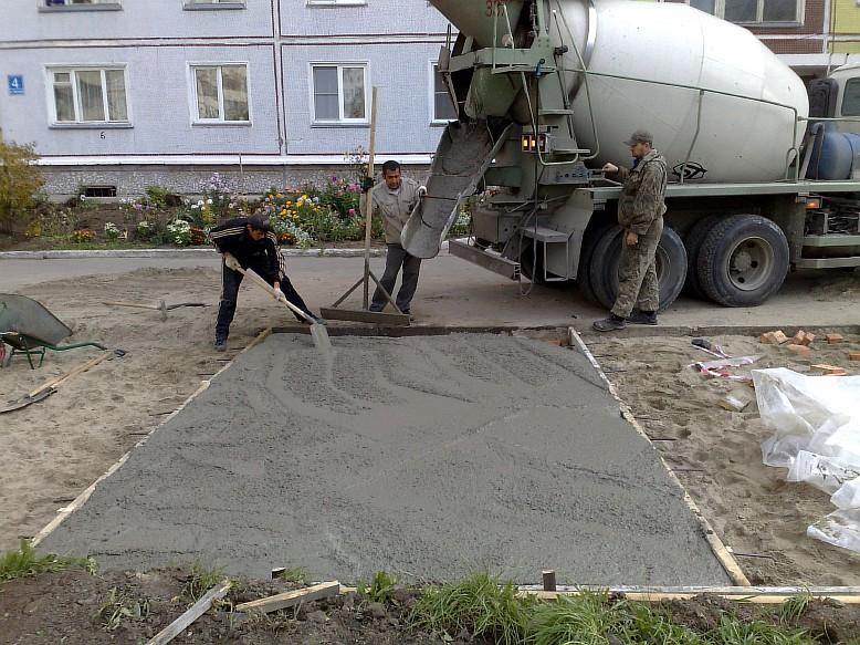бетон марки м200 для заливки площадки перед гаражом