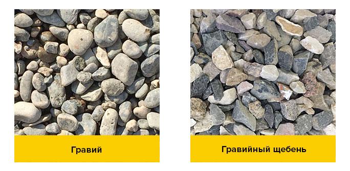 гравий и щебень отличия фото