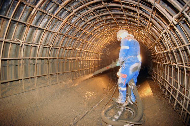 заливка тоннеля бетоном м500 класс в40
