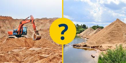 Какой песок лучше, речной или карьерный? Сравнение